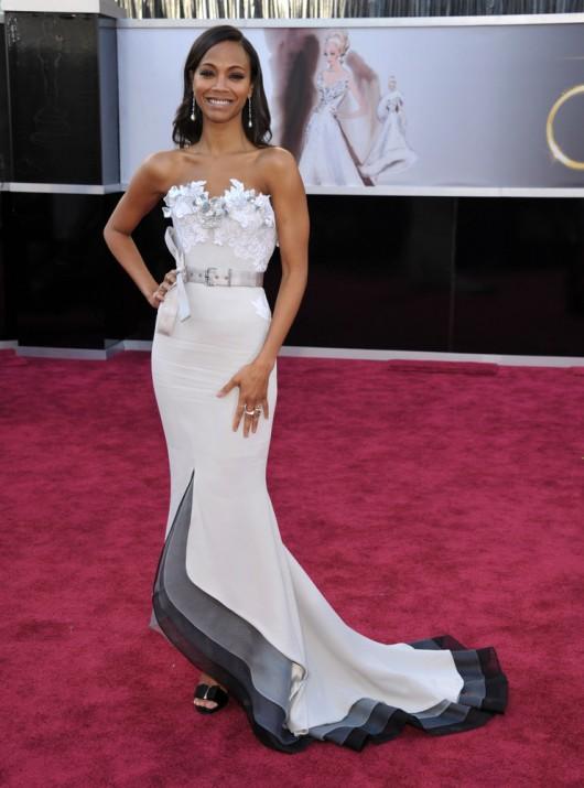 Oscars 2013 Zoe Saldana