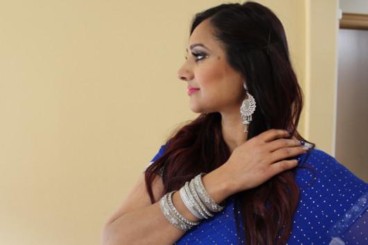 Royal blue sari 4
