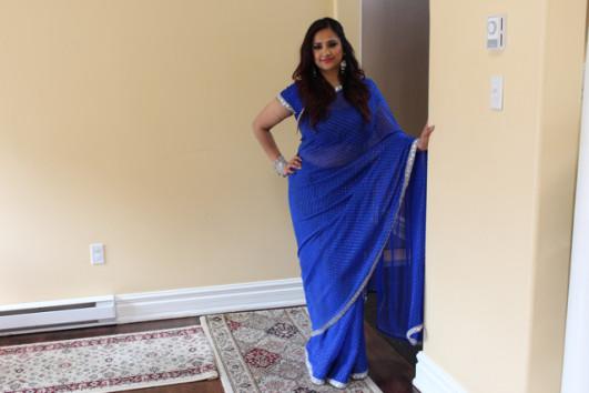 Royal blue sari 5