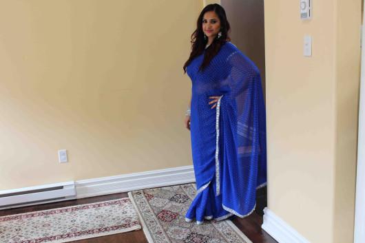 Royal blue sari 6