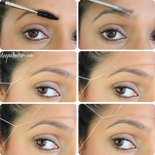 how to shape and thread your eyebrows