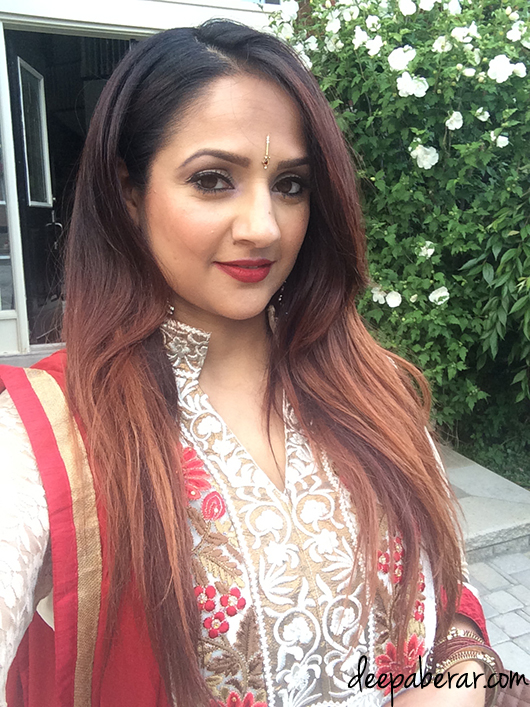 Deepa Berar red suit 2