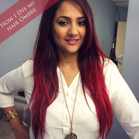 deepa berar red hair ombre
