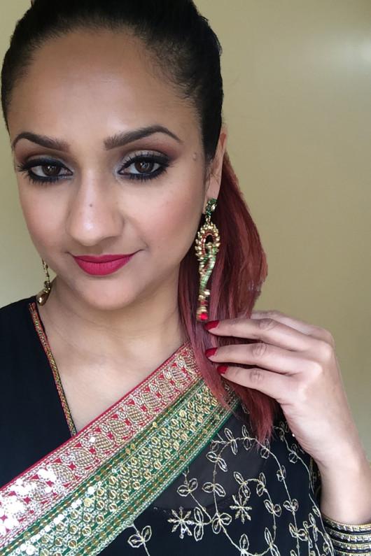 Deepa berar red lipstick 2