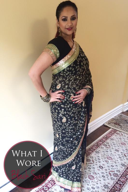 black sari 2