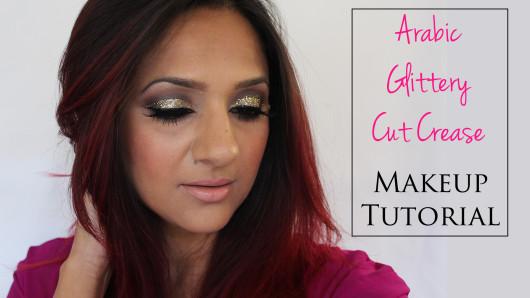 Deepa Berar's Glittery Arabic cut crease Makeup tutorial