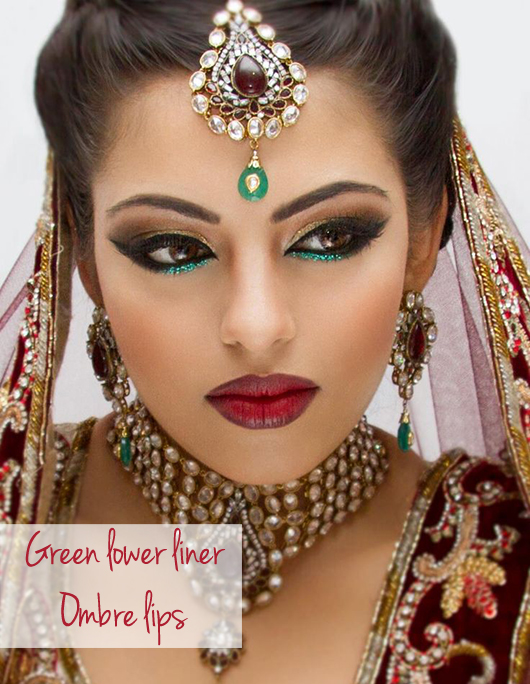 Indian Xmas makeup idea