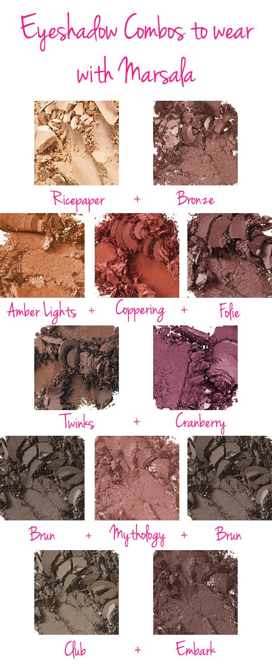 marsala eyeshadow combination ideas