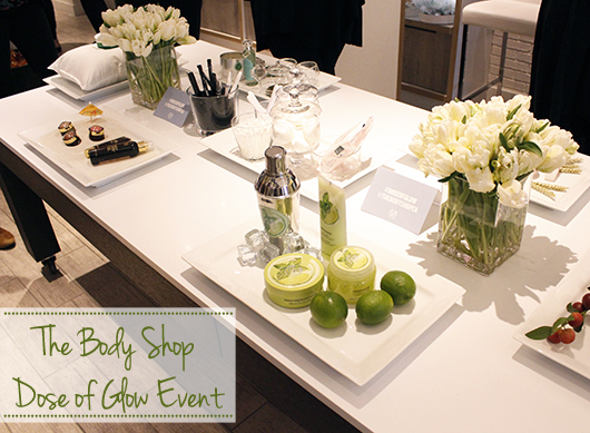 The Body Shop Dose of Glow event