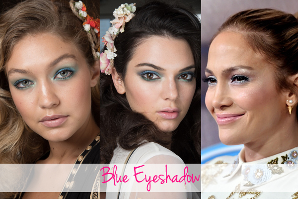 Spring 2016 beauty trend blue eyeshadow