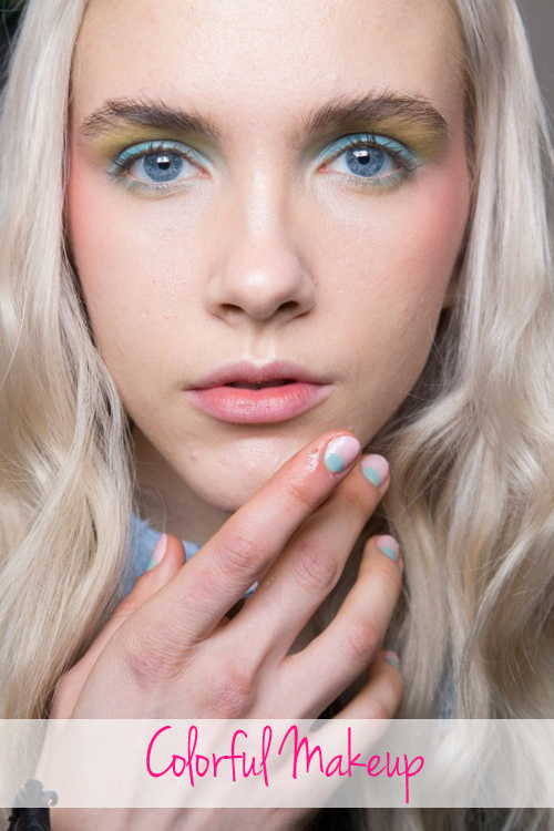 Spring 2016 beauty trend colorful makeup