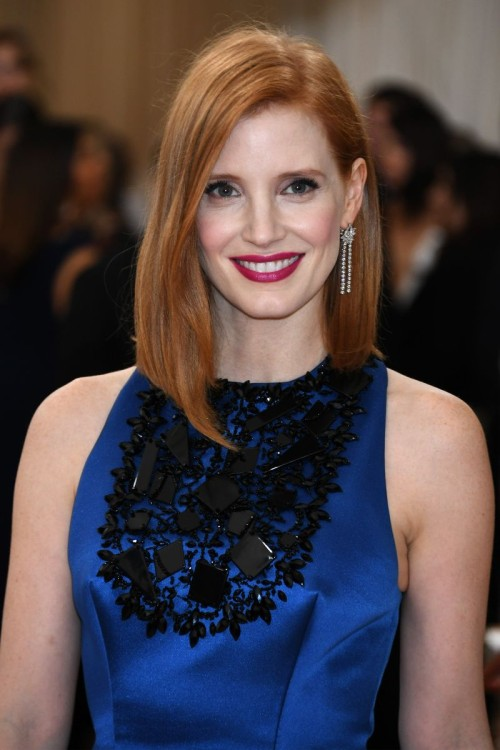 Met Gala 2016 Jessica Chastain makeup