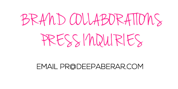 Deepa Berar Brand collaboration Press inquiry