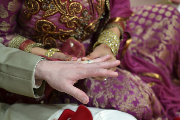 Deepa Berar Wedding Exchanging wedding rings