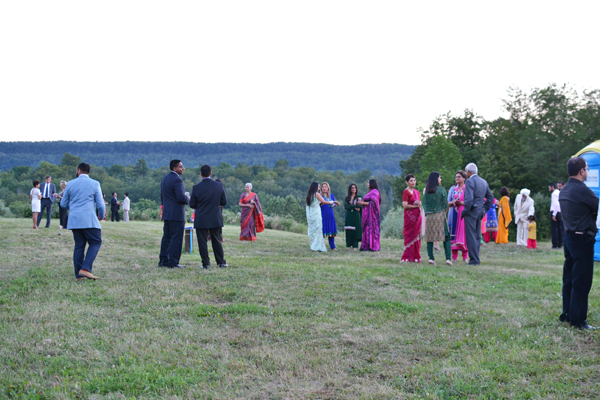 My Wedding Reception Family Mingling