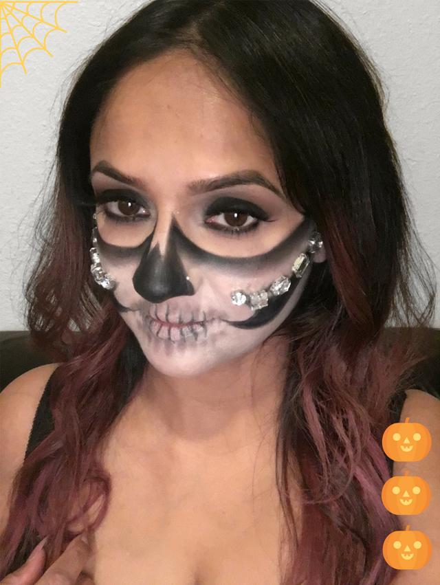 Deepa Berar Sugar Skull Makeup