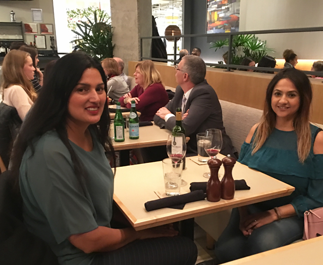 Deepa Berar November 2017 Happy at Nordstrom cafe Ottawa