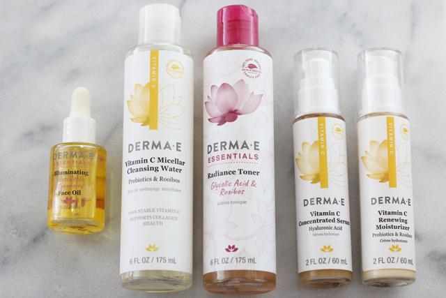 Derma E current skincare routine