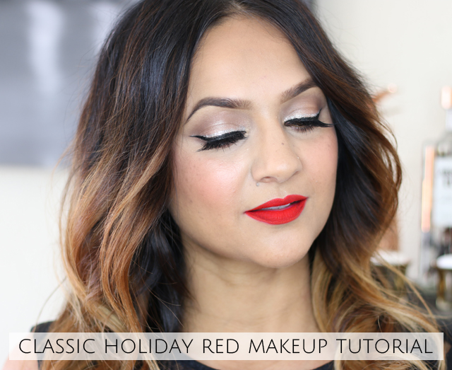 Classic holiday red Lip Deepa Berar