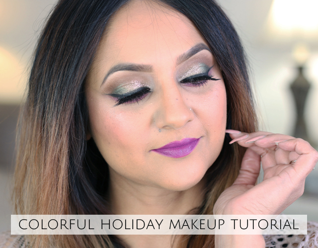 Colorful holiday makeup tutorial 2017 deepa berar