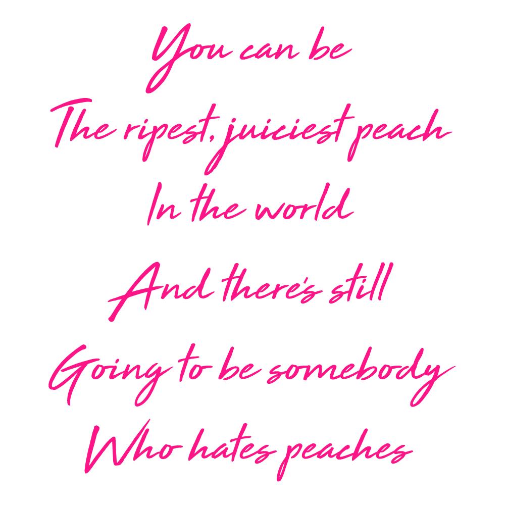Peach quote