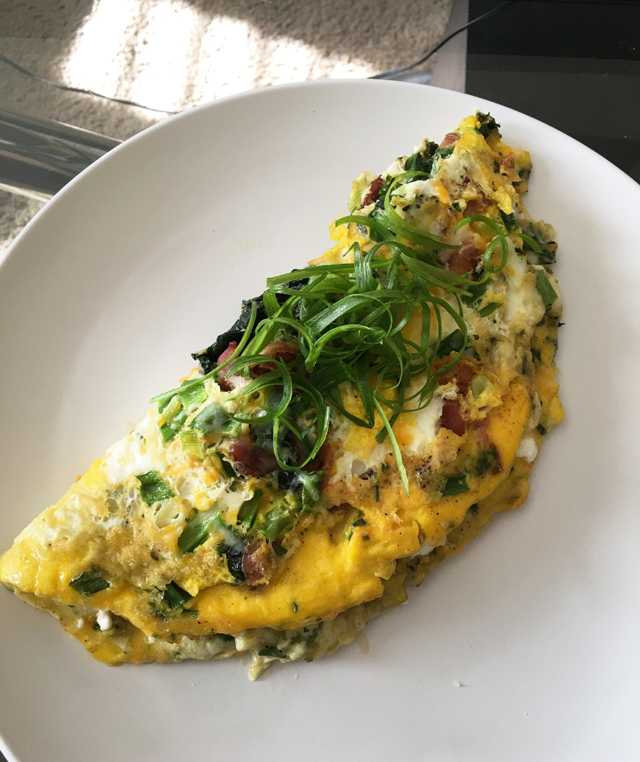 Week 4 Goat Cheese Omelette