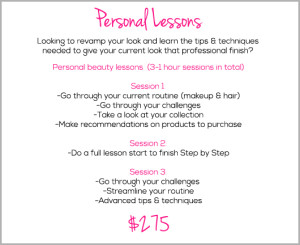 Personal online makeup lessons