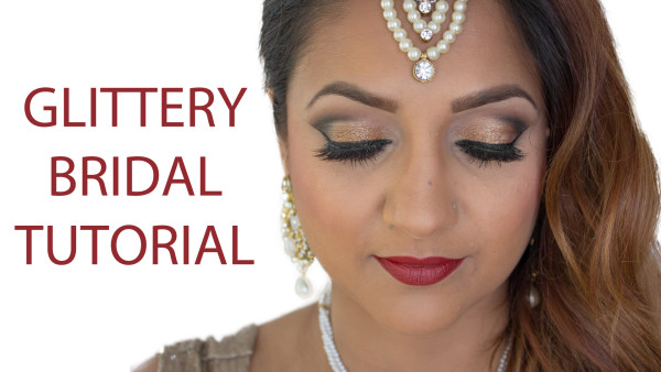 glittery indian bridal makeup