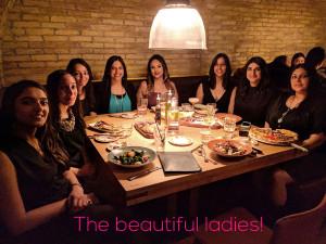 Deepa Berar Bachelorette dinner Cibo Toronto