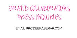 Deepa Berar Brand collaboration Press inquiry