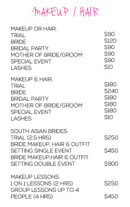Makeup and Hair Services Deepa Berar