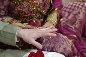 Deepa Berar Wedding Exchanging wedding rings