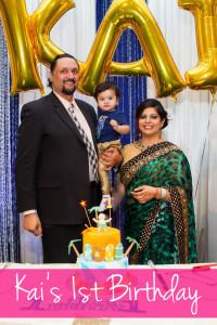 Kais birthday Kai Berar and parents