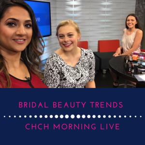 bridal beauty trends with Deepa Berar on chch morning live