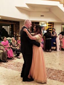 My Wedding Reception Deepa and Derek slow dance