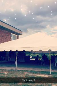 My Wedding Reception Tent Snap