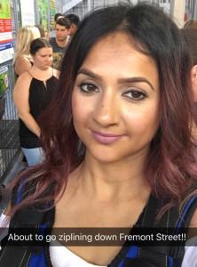 Vegas 2017 Deepa Berar Ziplining