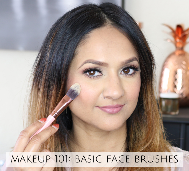 Makeup 101 Basic Face Brushes