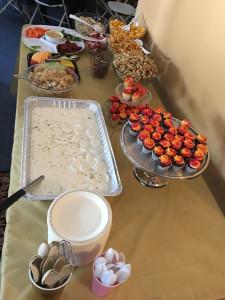 Week 12 Dessert table for Leeya